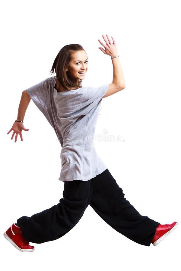 девушка танцы стоковое изображение rf