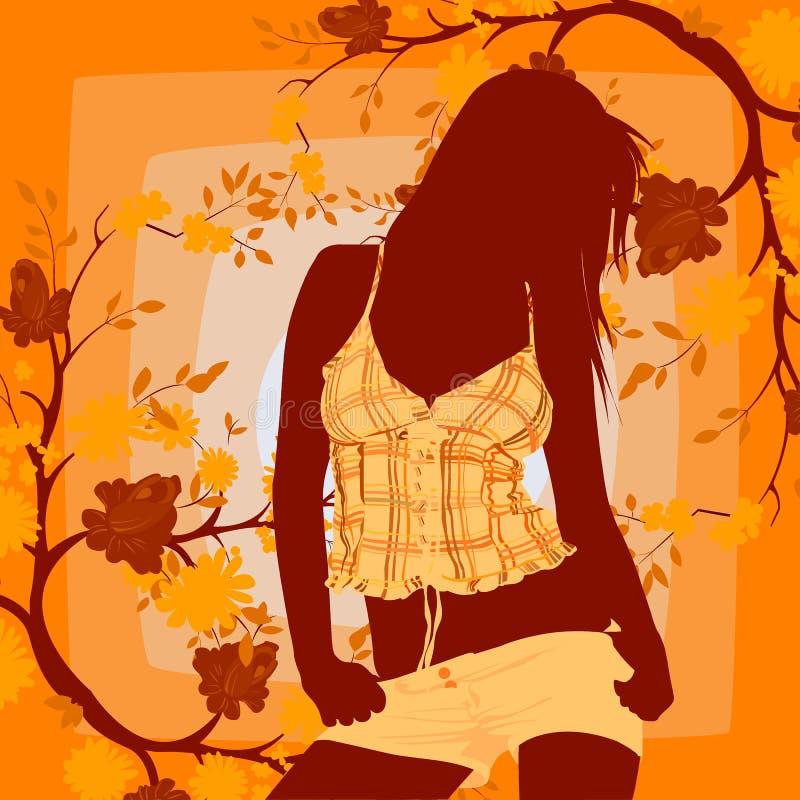 девушка танцы иллюстрация вектора
