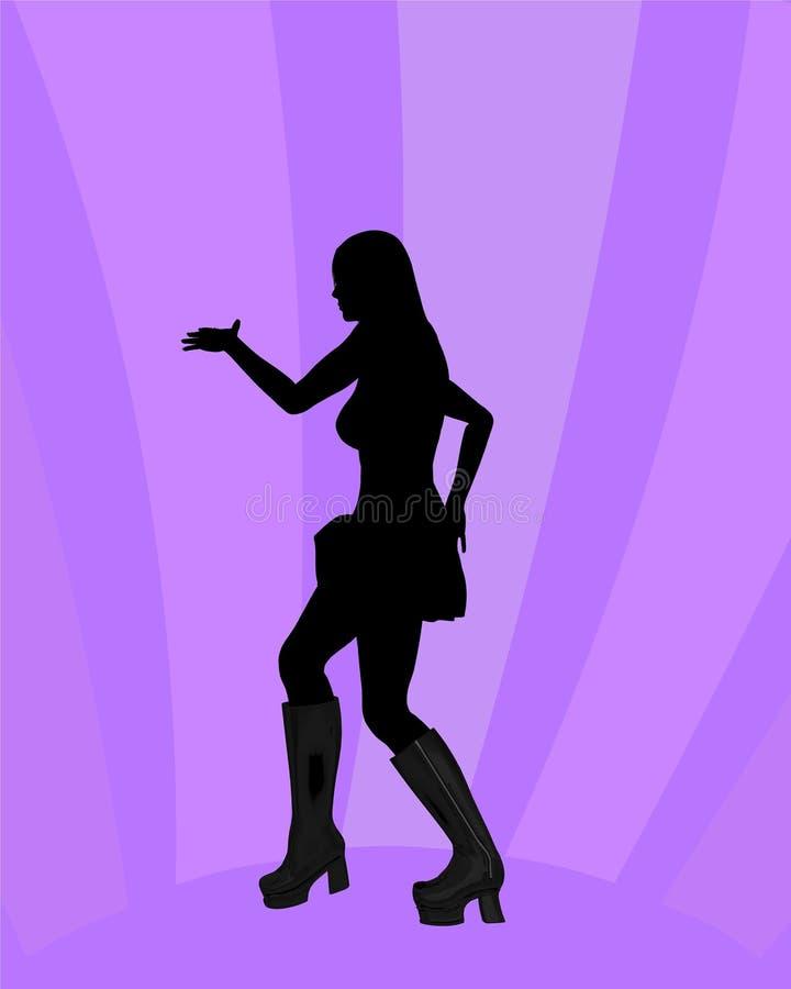 Download девушка танцы иллюстрация штока. иллюстрации насчитывающей счастливо - 650316
