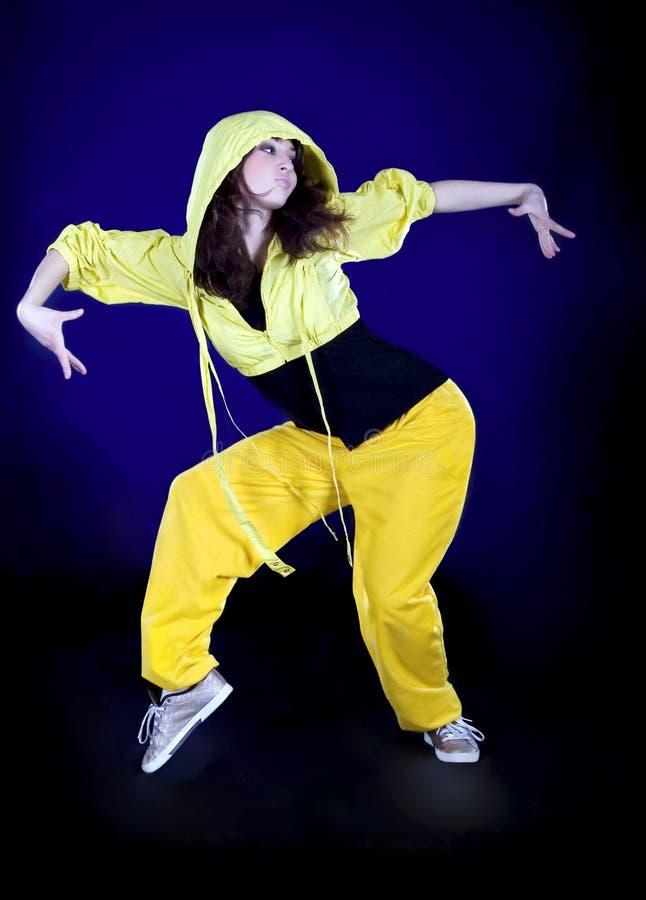 девушка темноты танцы подростковая стоковое изображение