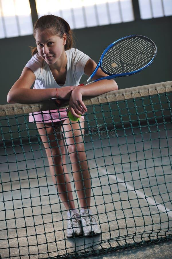 Девушка тенниса стоковое изображение rf