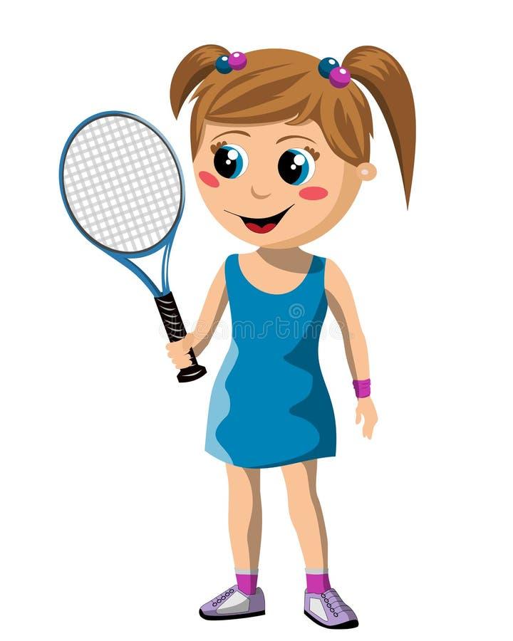Девушка тенниса бесплатная иллюстрация