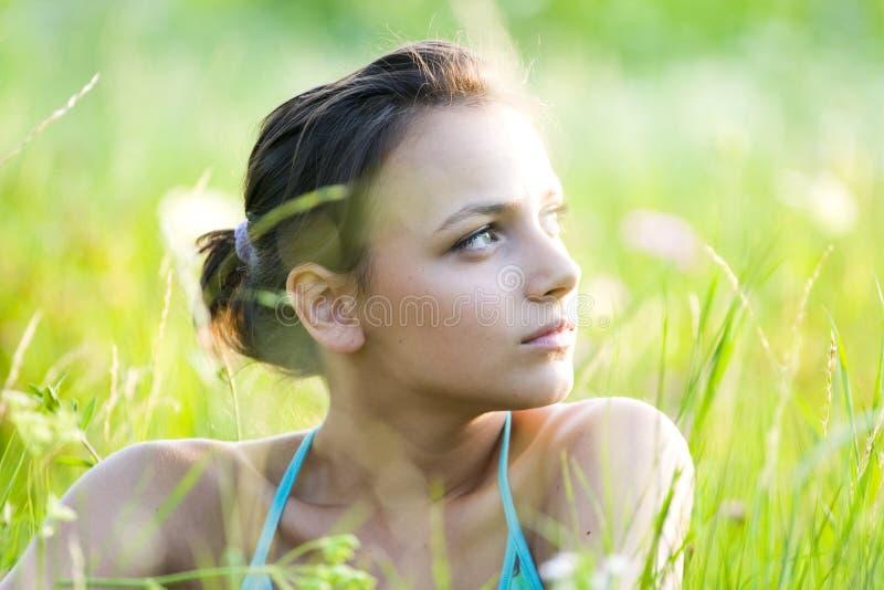 девушка фантазера стоковая фотография rf