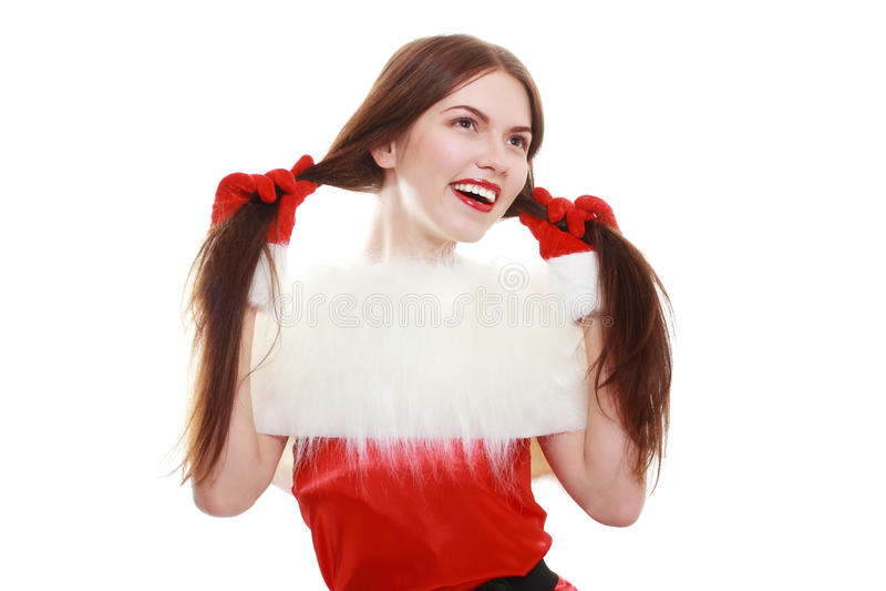Девушка хелпера Санты стоковая фотография rf
