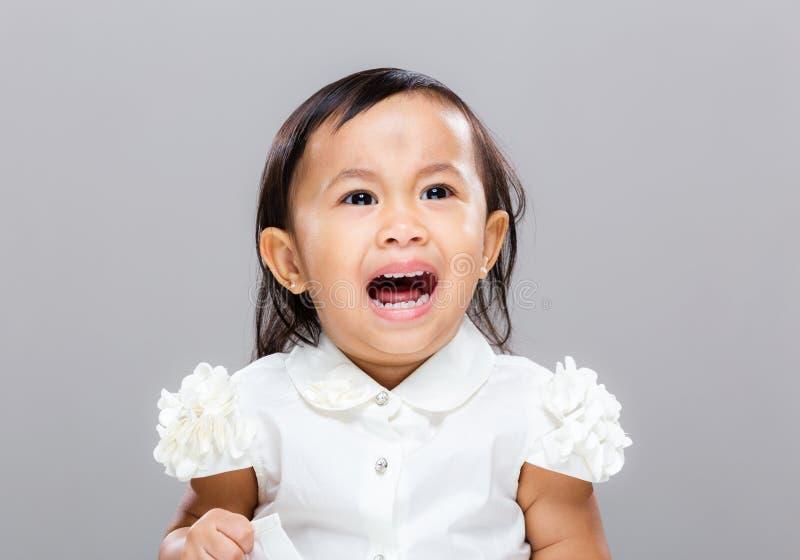 Девушка хочет scream стоковые изображения