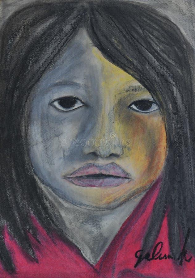 Девушка цвета стоковые фотографии rf