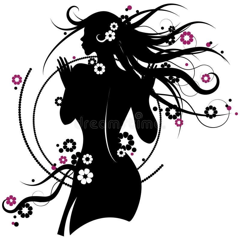 девушка цветка бесплатная иллюстрация