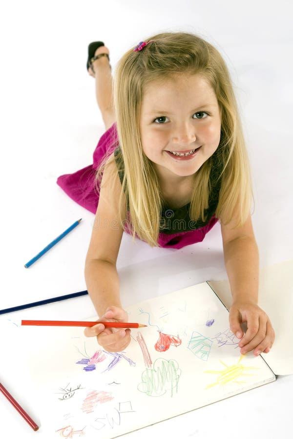 девушка чертежа стоковое фото rf