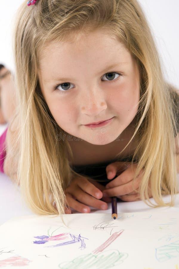 девушка чертежа стоковые изображения