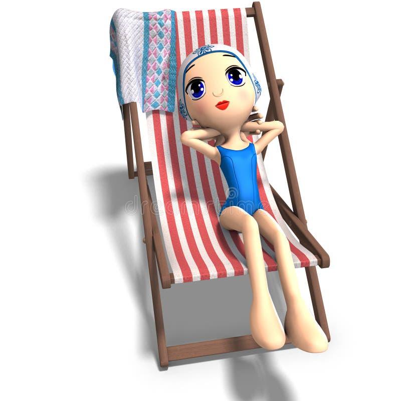 девушка шаржа милая смешная бесплатная иллюстрация