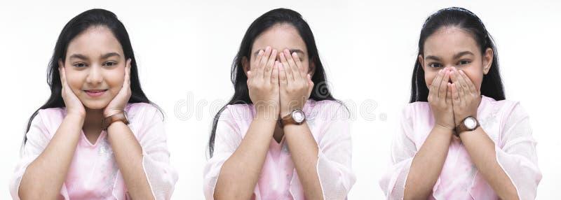 девушка этик показывая символы стоковое фото