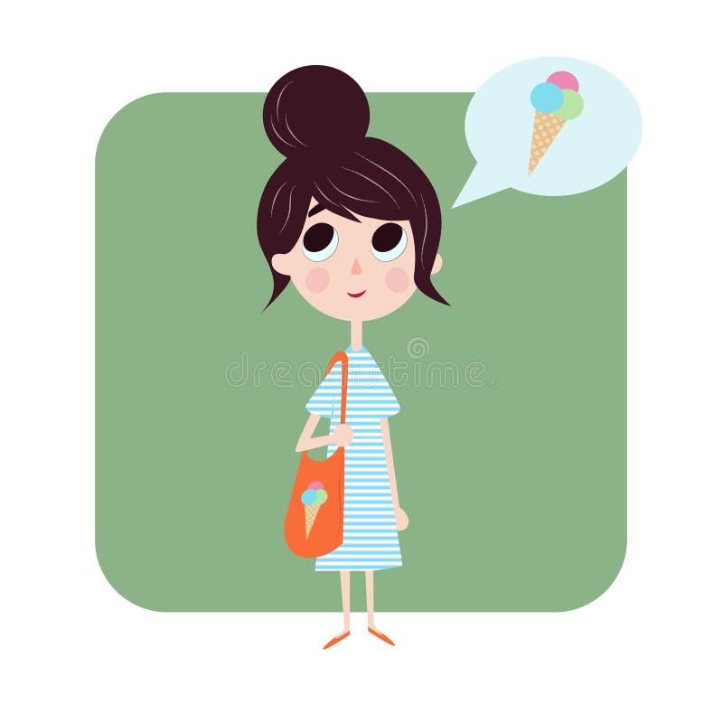 Девушка любит лето стоковое изображение