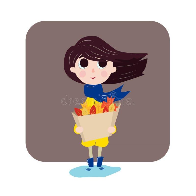 Девушка любит осень стоковые изображения