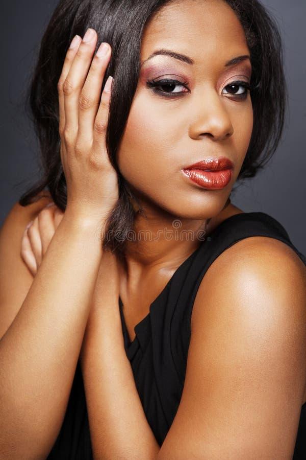 девушка 3 афроамериканцев красивейшая стоковая фотография rf