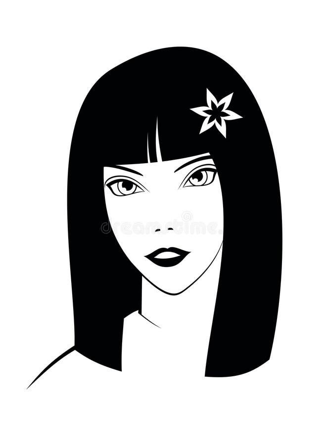 девушка иллюстрация вектора