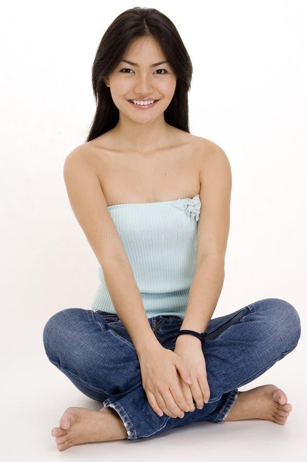 девушка 5 китайцев стоковое изображение