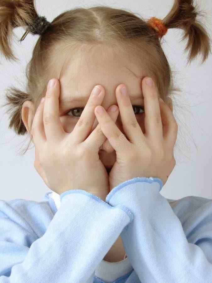 девушка 5 син стоковые фотографии rf