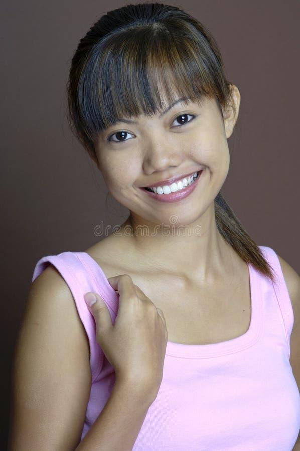девушка 9 счастливая стоковое изображение