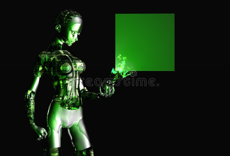 девушка android иллюстрация вектора
