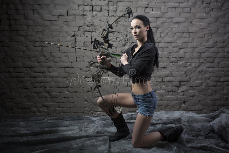Девушка Archery стоковая фотография