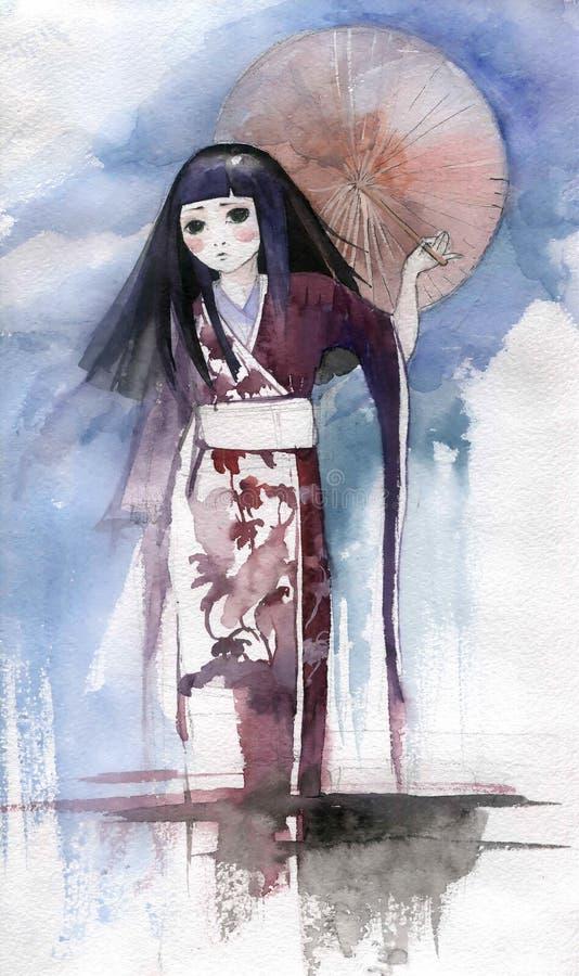 Девушка Asias иллюстрация штока