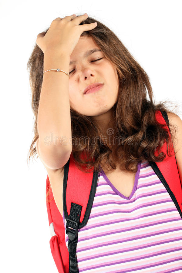 девушка backpack красивейшая стоковое фото rf