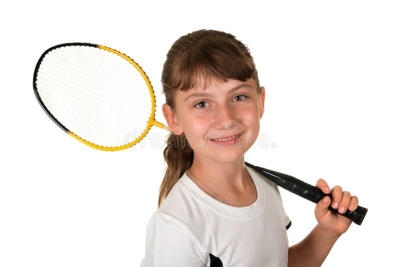 девушка badminton стоковое изображение