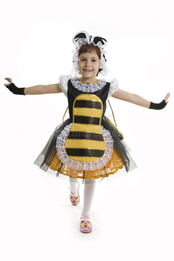девушка costume пчелы малая стоковые изображения