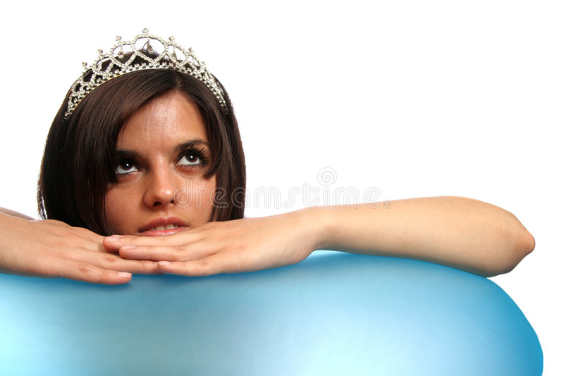девушка diadem стоковая фотография