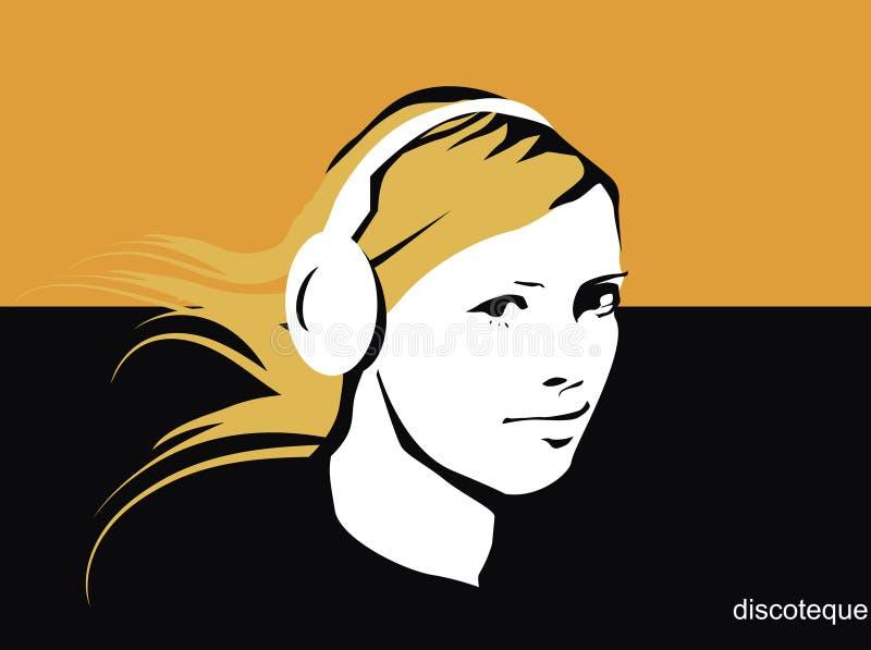 девушка dj иллюстрация вектора
