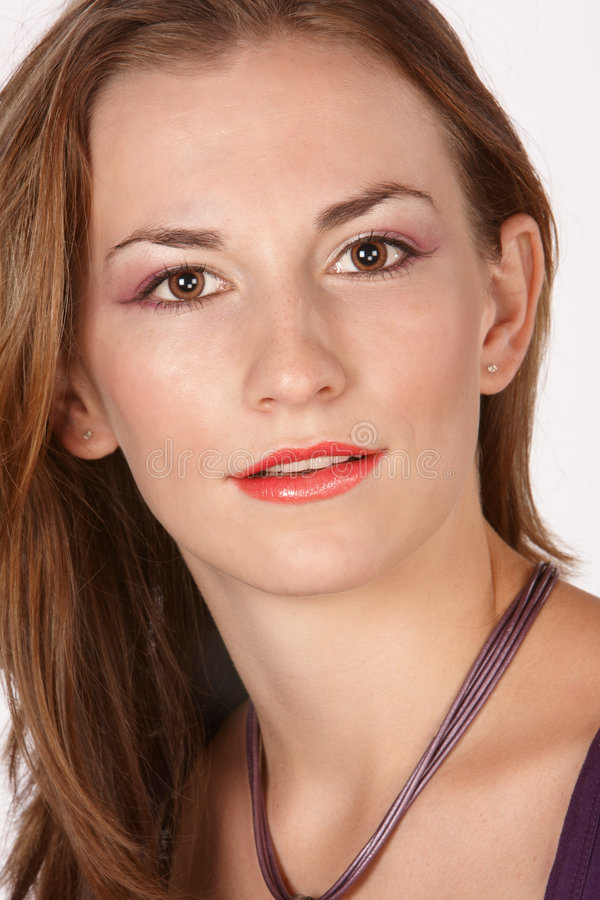 девушка eyed коричневым цветом стоковые изображения rf
