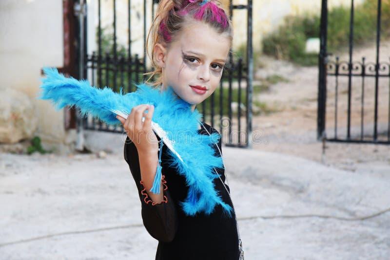 девушка halloween страшный стоковое изображение