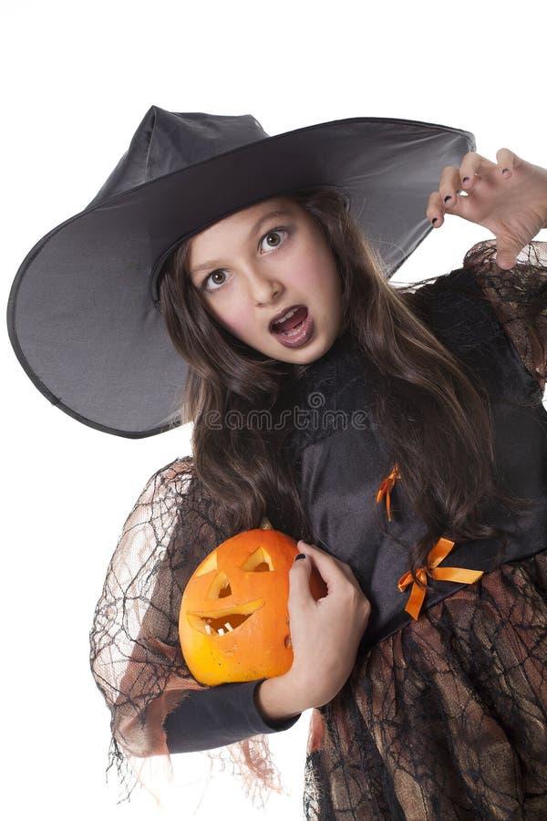 девушка halloween costume стоковое изображение