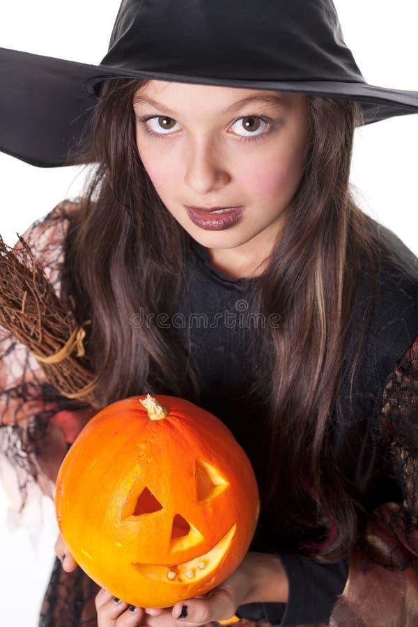 девушка halloween costume стоковое фото
