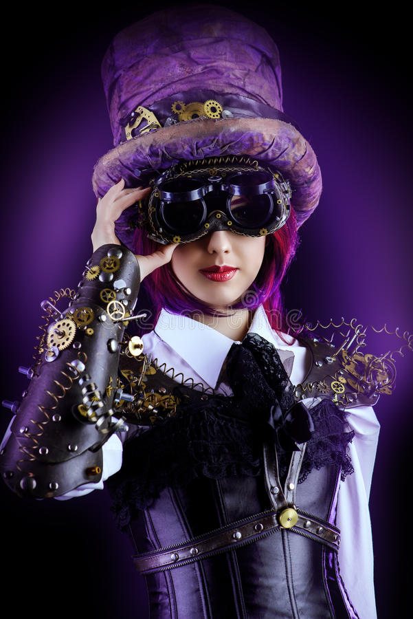 Девушка Hatter стоковое фото