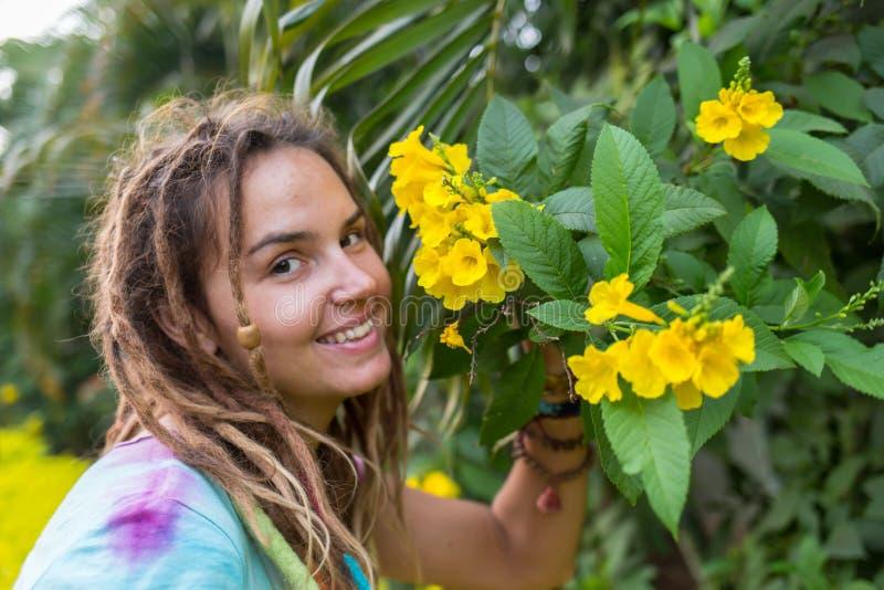 Девушка Hippie стоковое изображение