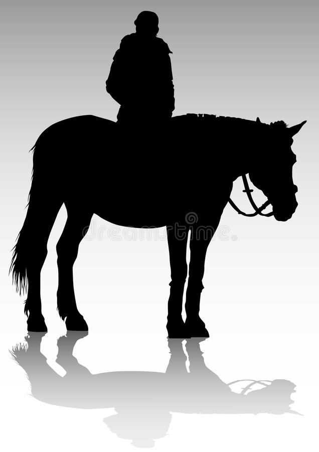 девушка horseback бесплатная иллюстрация