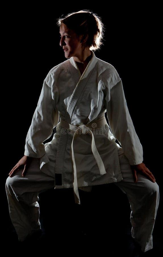 Девушка Judoka стоковое фото rf