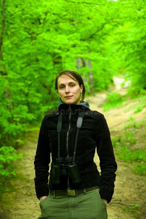 девушка outdoors стоковое изображение
