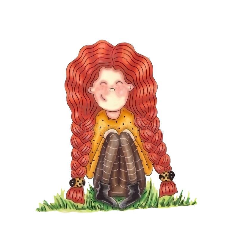 Девушка Redhead бесплатная иллюстрация