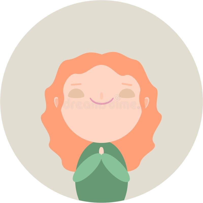 Девушка Redhead милая иллюстрация штока