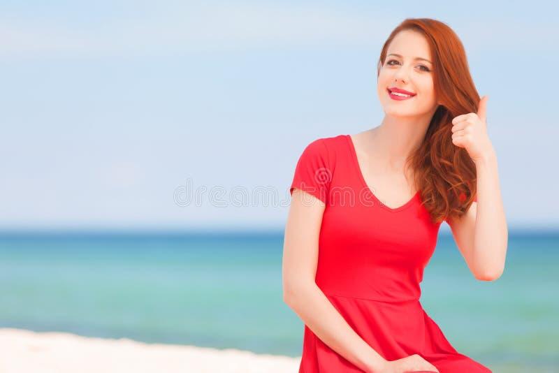 Девушка Redhead стоковое изображение