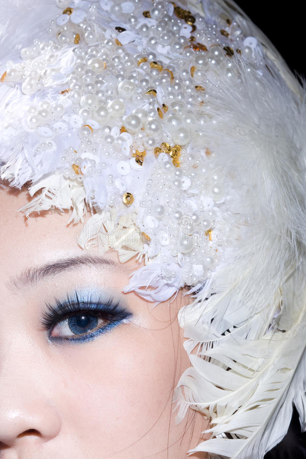 девушка s глаза стоковое изображение rf