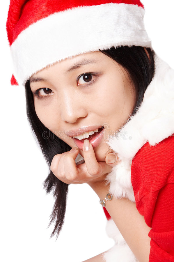 девушка Santa Стоковые Изображения