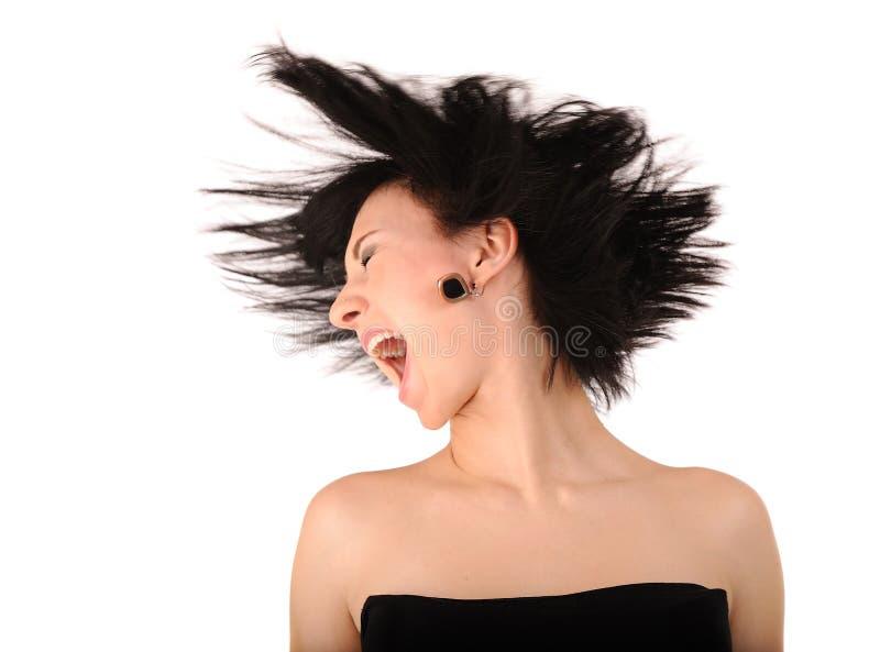 Download девушка screaming стоковое фото. изображение насчитывающей игра - 18399540