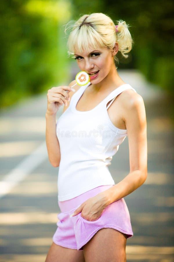 девушка sporty стоковые фотографии rf