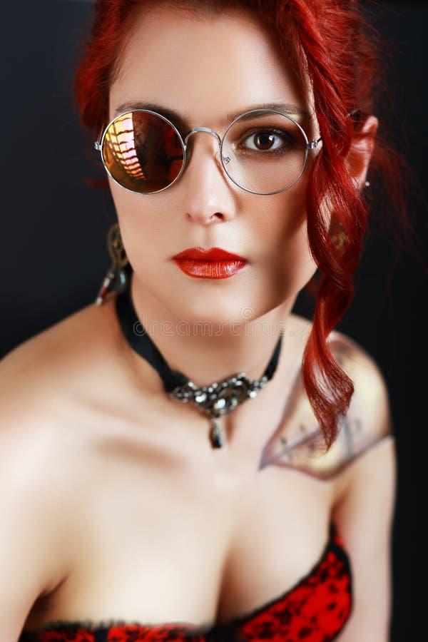 Девушка SteamPunk стоковое изображение