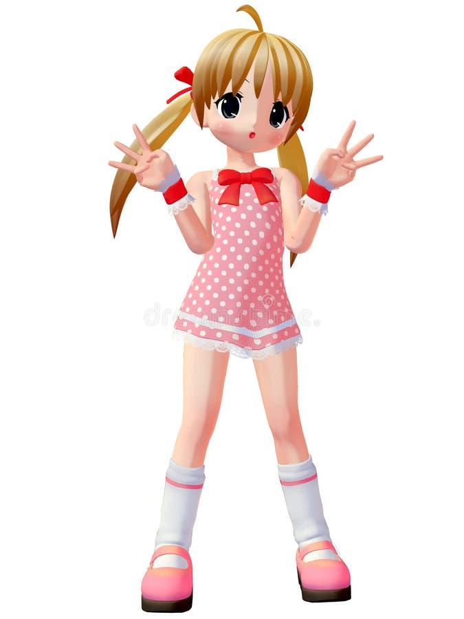 девушка toon anime бесплатная иллюстрация