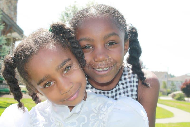 девушки афроамериканца стоковое изображение rf