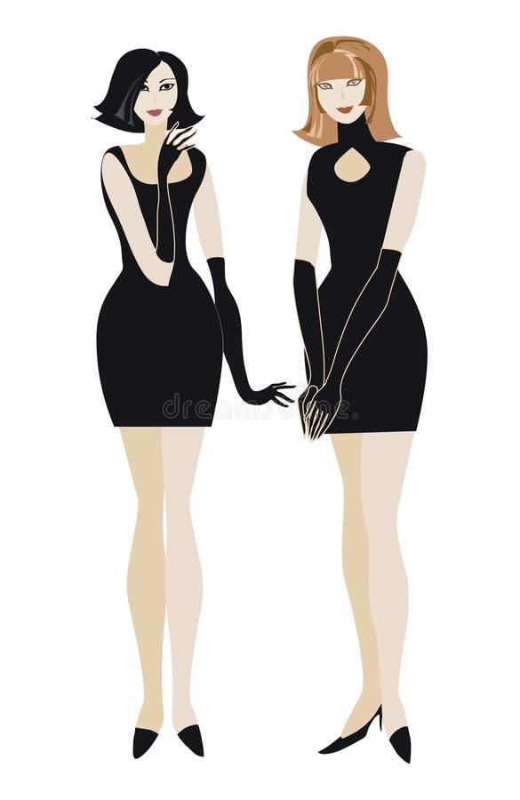 Download девушки довольно иллюстрация штока. иллюстрации насчитывающей черный - 508330